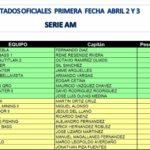 Serial Regional Centro 2011 – Primera Fecha