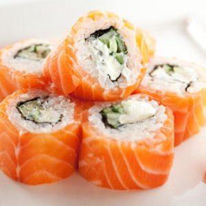 Sushi de Salmotrucha Ahumada
